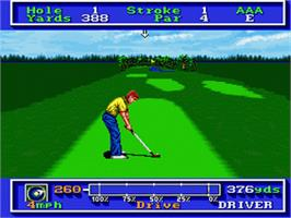 In game image of PGA Tour Golf on the Nintendo SNES.