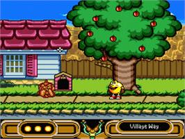In game image of Pac-Man 2: The New Adventures on the Nintendo SNES.