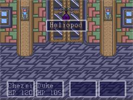 In game image of Paladin's Quest on the Nintendo SNES.