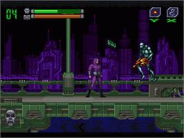In game image of Phantom 2040 on the Nintendo SNES.