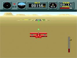 In game image of Pilotwings on the Nintendo SNES.
