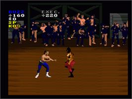 In game image of Pit-Fighter on the Nintendo SNES.