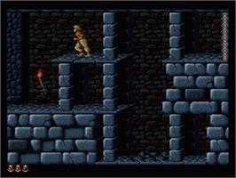In game image of Prince of Persia on the Nintendo SNES.