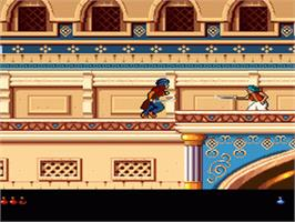 In game image of Prince of Persia 2: The Shadow & The Flame on the Nintendo SNES.