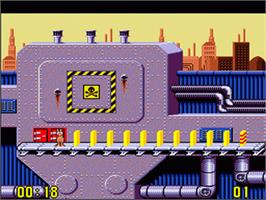 In game image of Push-Over on the Nintendo SNES.