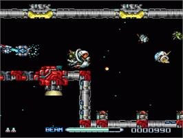 In game image of R-Type III: The Third Lightning on the Nintendo SNES.