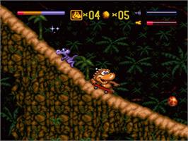 In game image of Radical Rex on the Nintendo SNES.