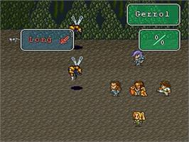 In game image of Romancing SaGa 2 on the Nintendo SNES.