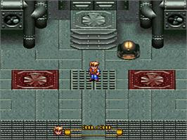 In game image of Secret of Evermore on the Nintendo SNES.