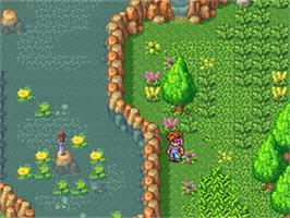 In game image of Secret of Mana on the Nintendo SNES.