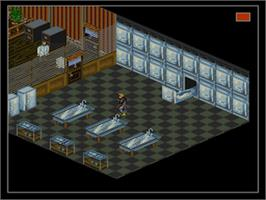 In game image of Shadowrun on the Nintendo SNES.