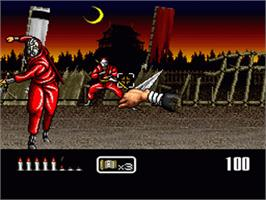 In game image of Shien's Revenge on the Nintendo SNES.