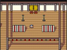 In game image of Shin Momotarou Densetsu on the Nintendo SNES.