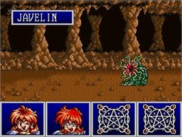 In game image of Slayers on the Nintendo SNES.