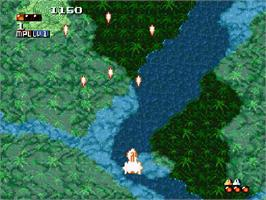 In game image of Space Megaforce on the Nintendo SNES.