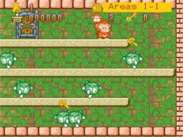 In game image of Spanky's Quest on the Nintendo SNES.