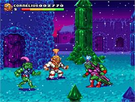 In game image of Stone Protectors on the Nintendo SNES.