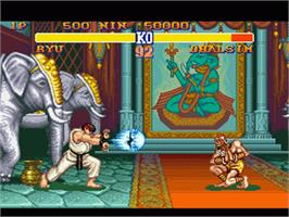 In game image of Street Fighter II: The World Warrior on the Nintendo SNES.