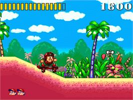 In game image of Super Adventure Island on the Nintendo SNES.