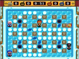In game image of Super Bomberman 2 on the Nintendo SNES.