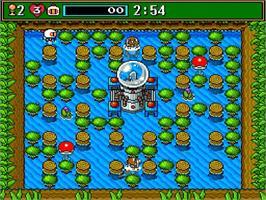 In game image of Super Bomberman 3 on the Nintendo SNES.