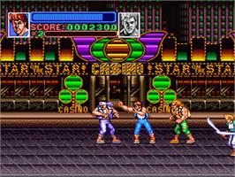 In game image of Super Double Dragon on the Nintendo SNES.