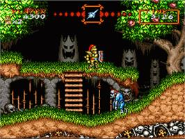 In game image of Super Ghouls 'N Ghosts on the Nintendo SNES.