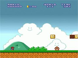 In game image of Super Mario All-Stars on the Nintendo SNES.