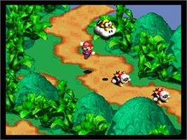 In game image of Super Mario RPG: Legend of the Seven Stars on the Nintendo SNES.