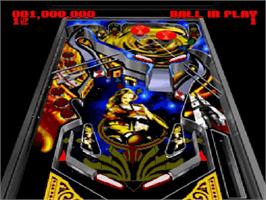 In game image of Super Pinball II: The Amazing Odyssey on the Nintendo SNES.