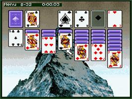 In game image of Super Solitaire on the Nintendo SNES.