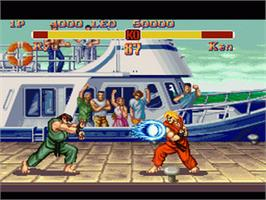 In game image of Super Street Fighter II: The New Challengers on the Nintendo SNES.