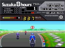 In game image of Suzuka 8 Hours on the Nintendo SNES.