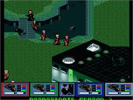 In game image of Syndicate on the Nintendo SNES.