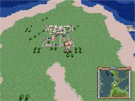 In game image of Tales of Phantasia on the Nintendo SNES.
