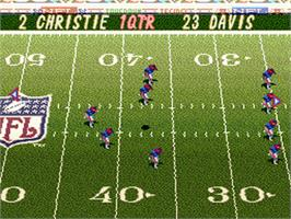 In game image of Tecmo Super Bowl II: Special Edition on the Nintendo SNES.