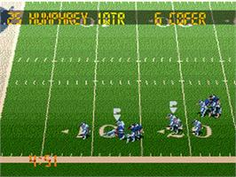 In game image of Tecmo Super Bowl III: Final Edition on the Nintendo SNES.