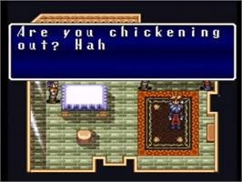 In game image of Terranigma on the Nintendo SNES.