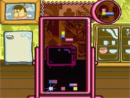 In game image of Tetris 2 on the Nintendo SNES.