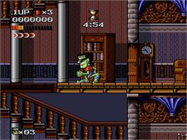 In game image of The Adventures of Dr. Franken on the Nintendo SNES.