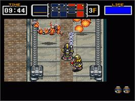 In game image of The Firemen on the Nintendo SNES.