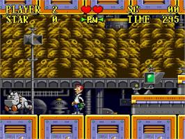 In game image of The Jetsons: Invasion of the Planet Pirates on the Nintendo SNES.