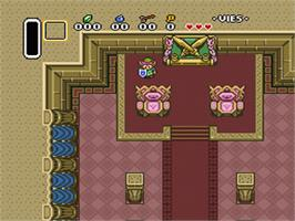 In game image of The Legend of Zelda: A Link to the Past on the Nintendo SNES.