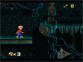 In game image of The Pagemaster on the Nintendo SNES.
