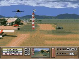 In game image of The Rocketeer on the Nintendo SNES.