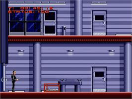 In game image of The Terminator on the Nintendo SNES.