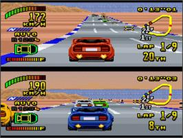 In game image of Top Gear 2 on the Nintendo SNES.