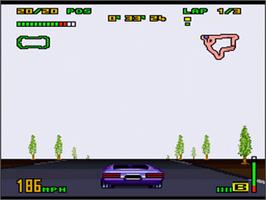 In game image of Top Gear 3000 on the Nintendo SNES.
