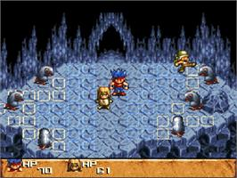 In game image of Treasure Hunter G on the Nintendo SNES.