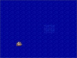 In game image of Uncharted Waters on the Nintendo SNES.